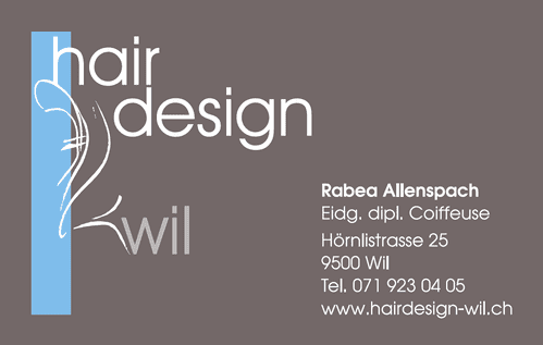 Hair Design Wil Coiffeuse Coiffeur Rabea Allenspach Wil SG